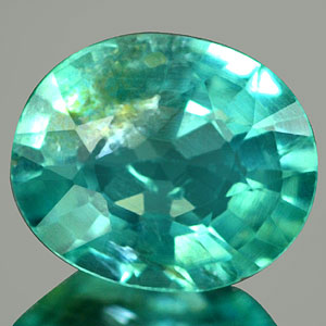 0.62Ct. Oval Cut Natural Paraiba Color Apatite Unheated