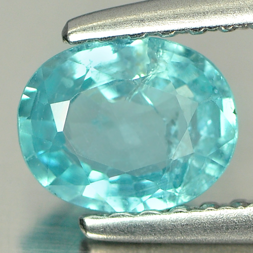 0.58 Ct. Oval Natural Paraiba Color Apatite Unheated