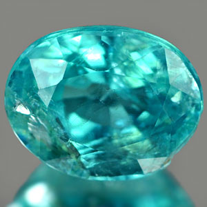 0.72Ct. Oval Cut Natural Paraiba Color Apatite Unheated
