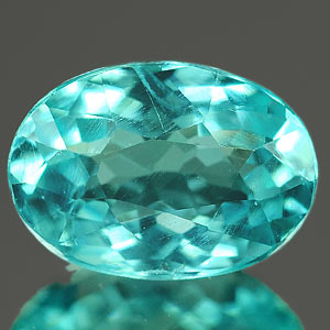 0.75 Ct. Majestic Oval Natural Paraiba Color Apatite