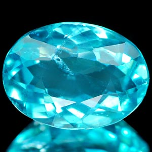 0.75 Ct. Oval Shape Natural Paraiba Color Apatite Gem