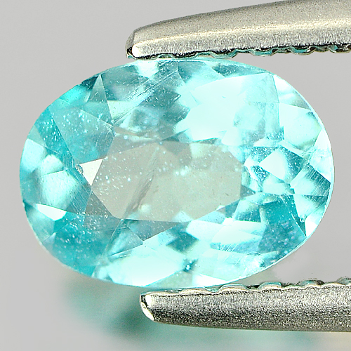 0.75 Ct. Oval Shape Natural Paraiba Color Apatite Unheated