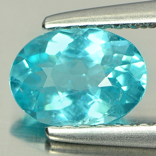 0.74 Ct. Oval Shape Natural Paraiba Color Apatite Gem