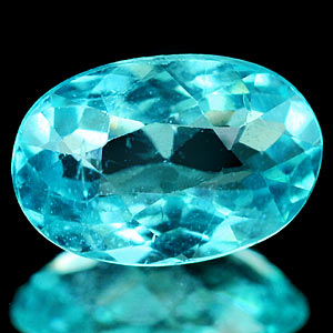 0.68 Ct. Oval Natural Paraiba Color Apatite Unheated
