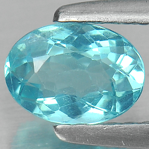 0.73 Ct. Oval Natural Paraiba Color Apatite Unheated
