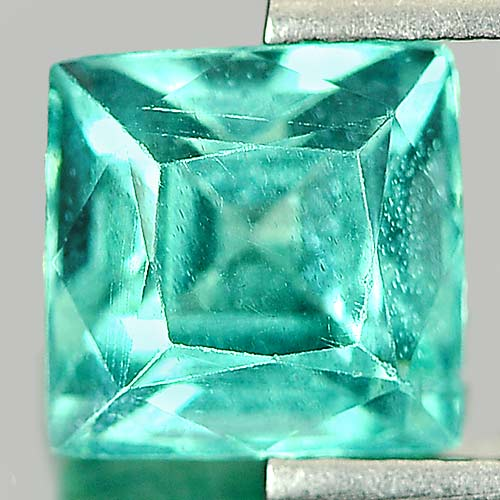 Unheated 1.31 Ct. Square Shape Natural Paraiba Color Apatite