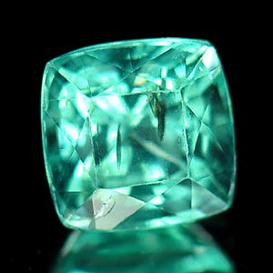 1.33 Ct Square Shape Natural Gemstone Paraiba Color Apatite Unheated