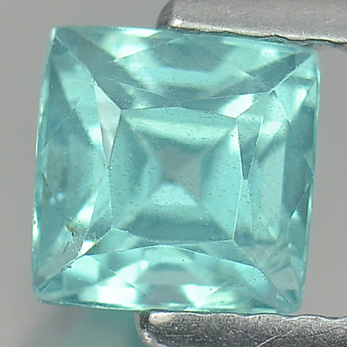 Unheated 1.14 Ct. Square Natural Paraiba Color Apatite Tanzania