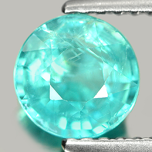 1.02 Ct. 6.3 Mm. Round Natural Paraiba Color Apatite