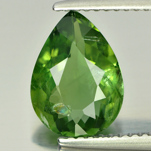 2.38 Ct. Natural Gemstone Pear Shape Green Apatite Unheated