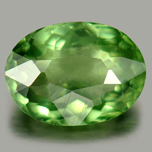 0.59 Ct. Natural Gemstone Green Apatite Oval Shape Tanzania