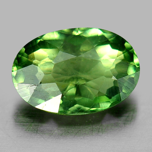 0.69 Ct. Oval Shape Natural Gemstone Green Apatite Unheated