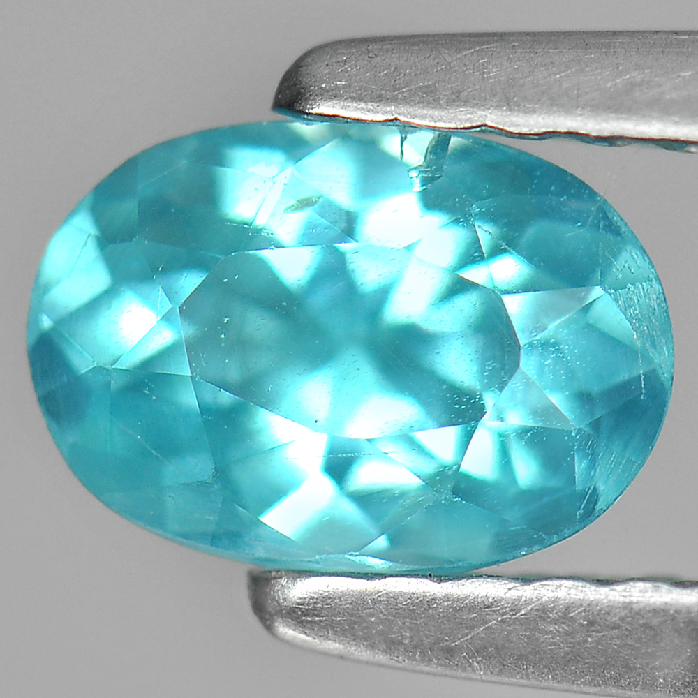 0.75 Ct. Beautiful Oval Natural Gem Paraiba Color Apatite Unheated