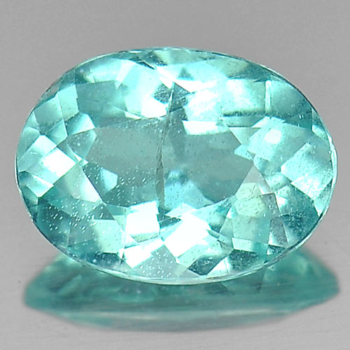 0.70 Ct. Alluting Natural Gem Paraiba Color Apatite Oval Shape