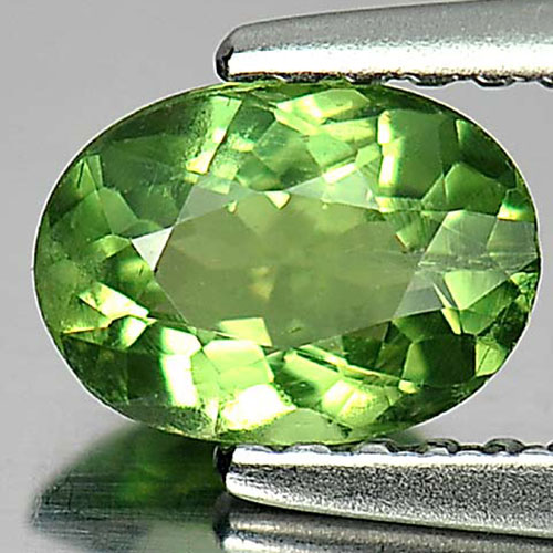 0.72 Ct. Beauteous Oval Natural Gem Green Apatite From Tanzania
