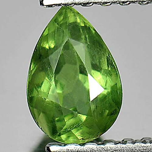 0.65 Ct. Alluring Pear Natural Gem Green Apatite From Tanzania