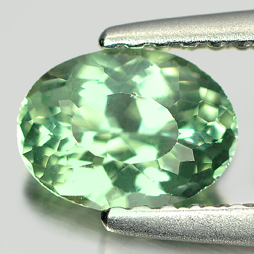 0.76 Ct. Unheated Oval Shape Natural Gem Green Apatite From Tanzania