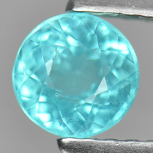 0.75 Ct. Beautiful Gemstone Natural Paraiba Color Apatite Round Shape Unheated