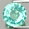 0.87 Ct. 6.2 Mm. Natural Paraiba Color Apatite Unheated