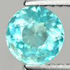 0.86 Ct. 5.9 Mm. Round Natural Paraiba Color Apatite