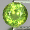 0.96 Ct. Nice Round Shape Natural Gem Green Apatite Size 6 x 6 Mm.