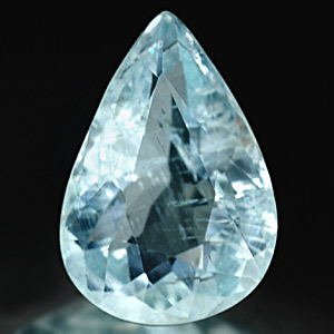 1.08 Ct. Pear Natural Gem Light Blue Aquamarine Unheated