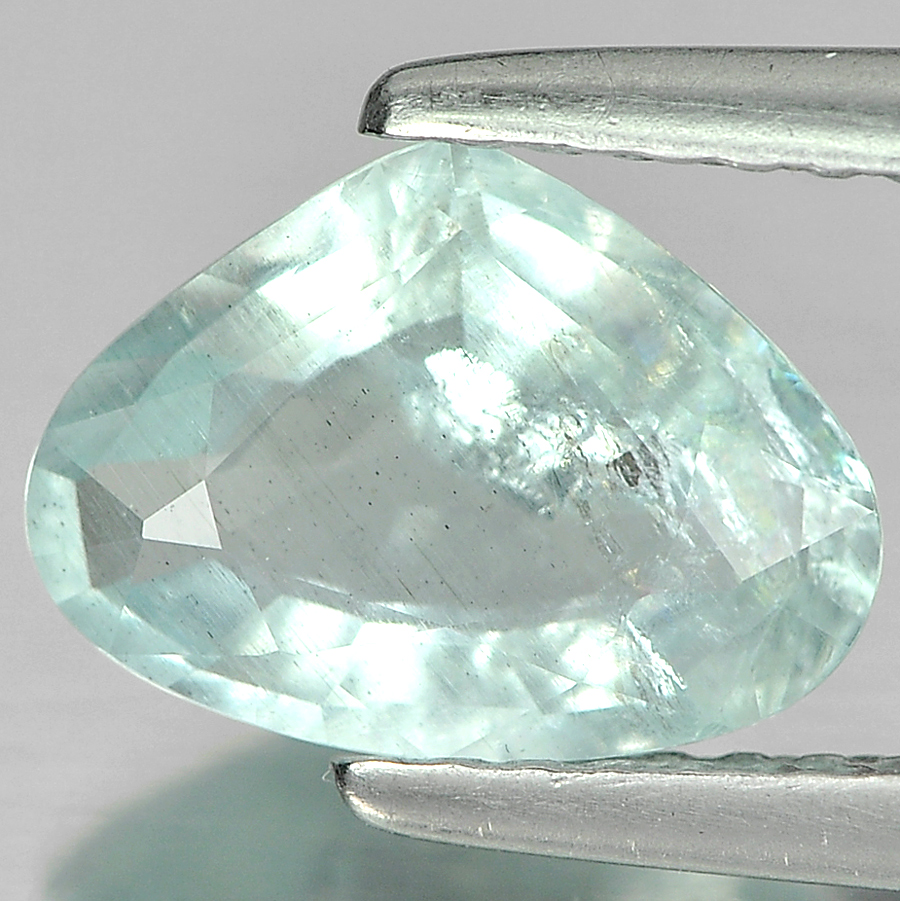 1.23 Ct. Pear Natural Gem Sky Blue Aquamarine Unheated