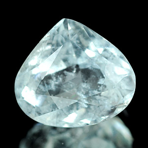 0.88 Ct. Pear Natural Light Blue Aquamarine Unheated