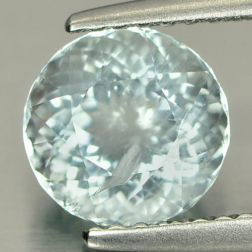 1.55 Ct. 7.3 Mm. Round Natural Light Blue Aquamarine Unheated