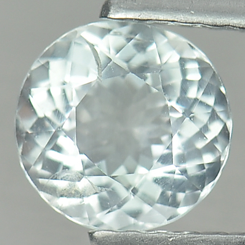 0.88 Ct. 6.5 Mm. Round Natural White Aquamarine Unheated