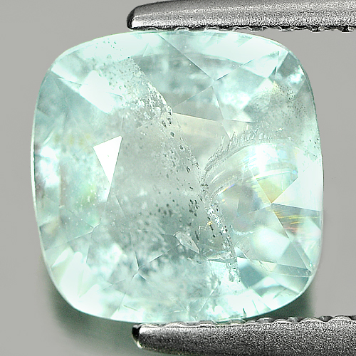 2.30 Ct. Cushion Natural Light Blue Aquamarine Unheated