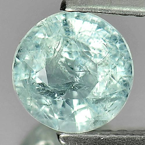 1.01 Ct. 6.7 Mm. Natural Light Blue Aquamarine Unheated