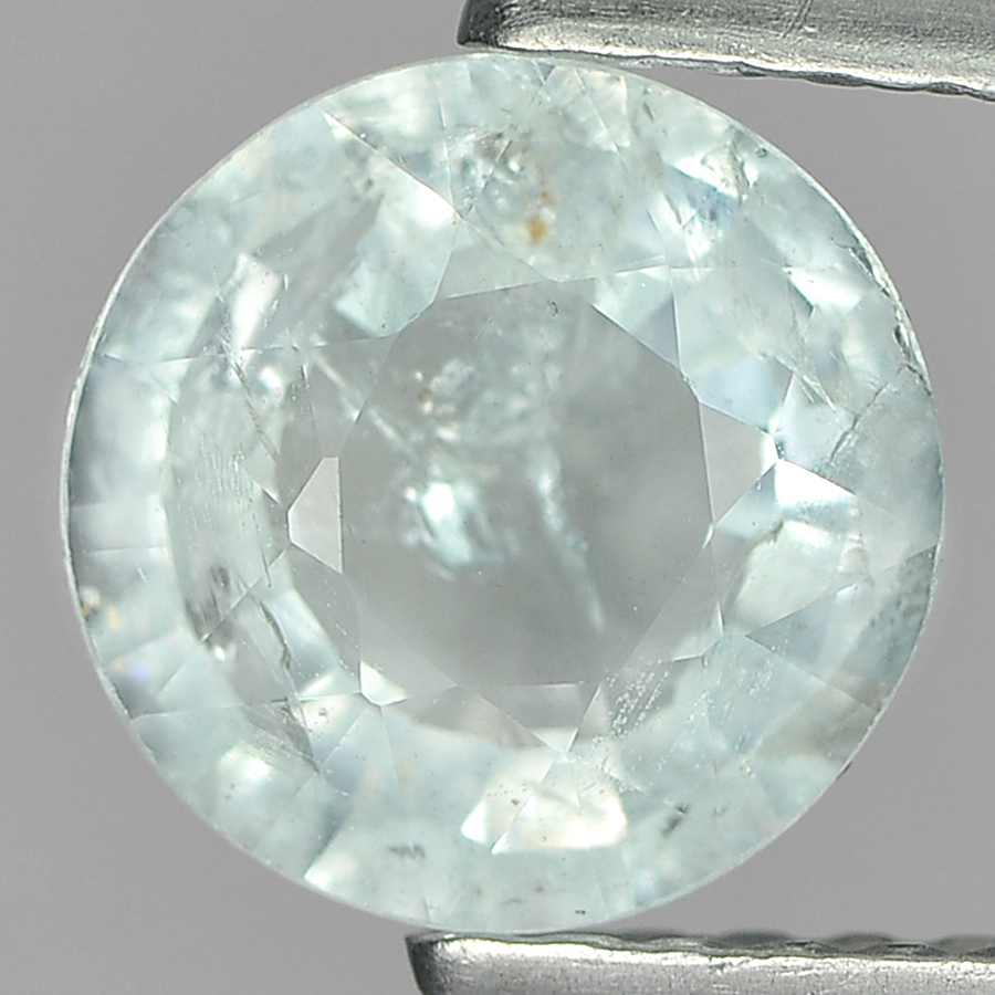 1.06 Ct. 6.9 Mm. Natural Light Blue Aquamarine Unheated