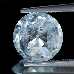 3.06 Ct. 10.3 Mm Natural Light Blue Aquamarine Unheated