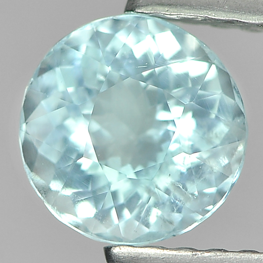 0.86 Ct. Round Natural Light Blue Aquamarine Unheated