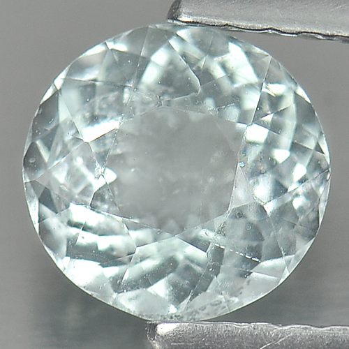 0.89 Ct. 6.8 Mm. Round Natural Light Blue Aquamarine Unheated