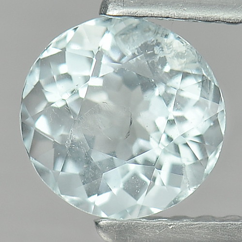 0.99 Ct. 6.5 Mm. Natural Light Blue Aquamarine Unheated