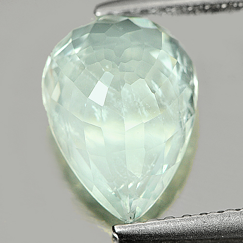2.32 Ct. Pear Natural Gem Light Blue Aqumarine Unheated