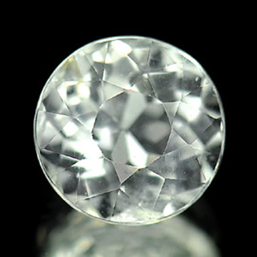 1.01 Ct. 6.3 Mm. Round Natural Gem White Aqumarine Unheated