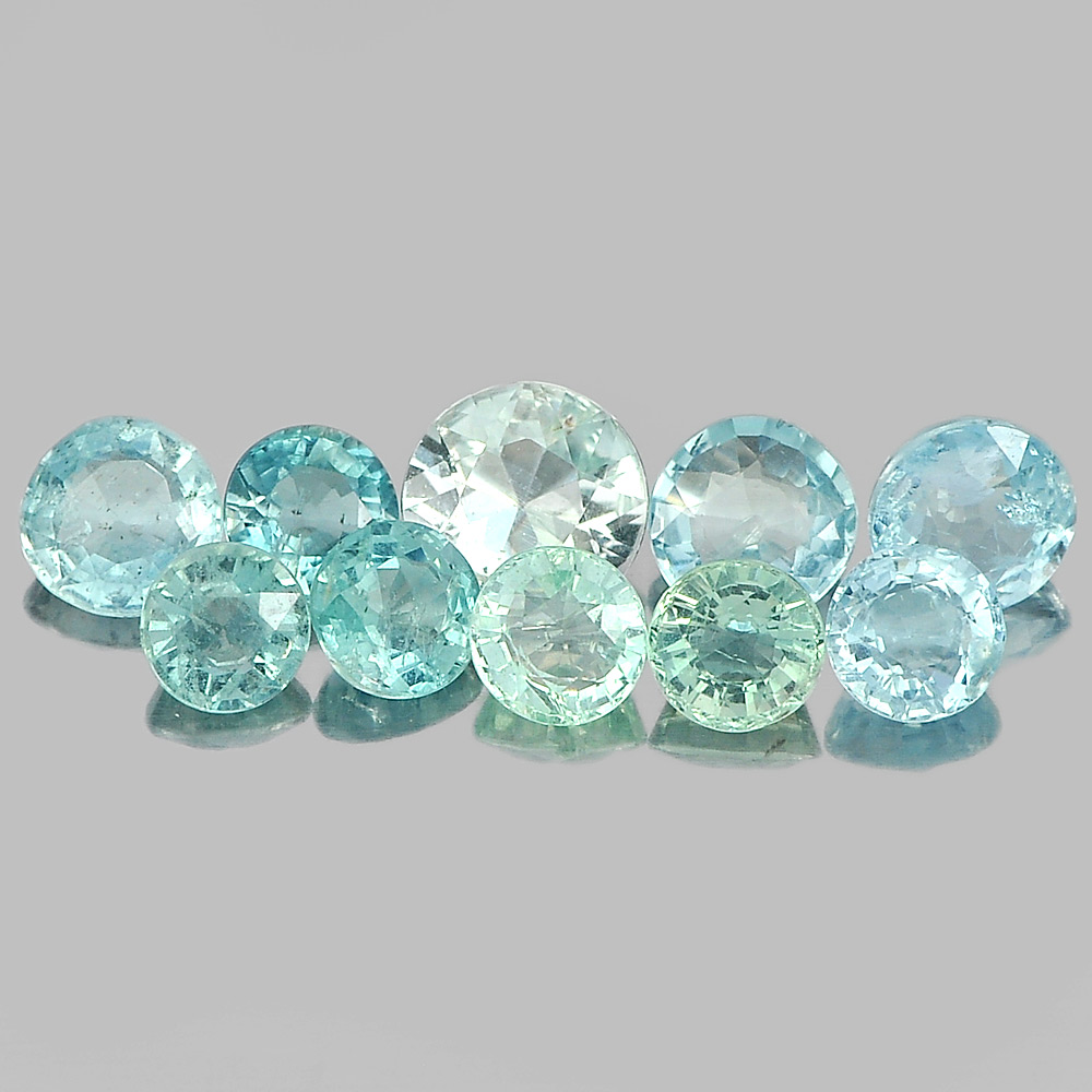 5.72 Ct. 10 Pcs. Natural Light Blue Aqumarine From Brazil Unheated