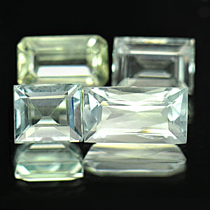 3.76 Ct. 4 Pcs. Mix shape Natural Light Blue Aqumarine