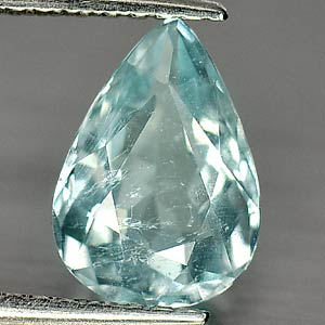 Unheated 1.31 Ct. Natural Light Blue Aquamarine Pear Shape Gemstone