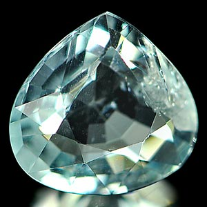 1.25 Ct. Pear Shape Natural Light Blue Aquamarine Unheated