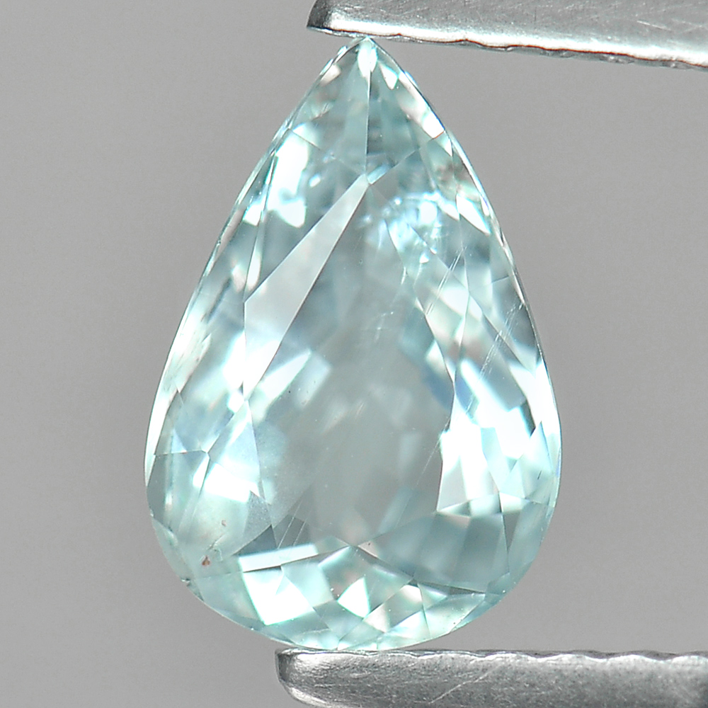 1.13 Ct. Pear Shape Natural Gemstone Light Blue Aquamarine Unheated From Brazil