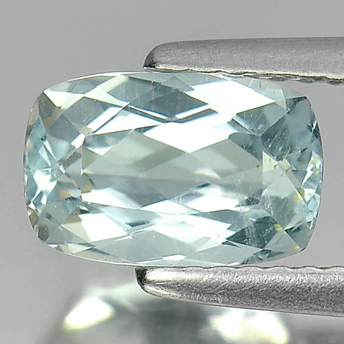 1.66 Ct. Cushion Shape Natural Gemstone Light Blue Aquamarine Unheated