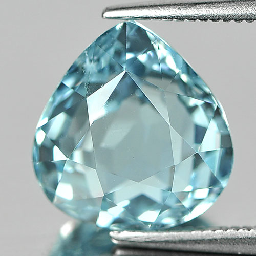 Natural Gemstone 5.28 Ct. Pear Shape Sky Blue Aquamarine