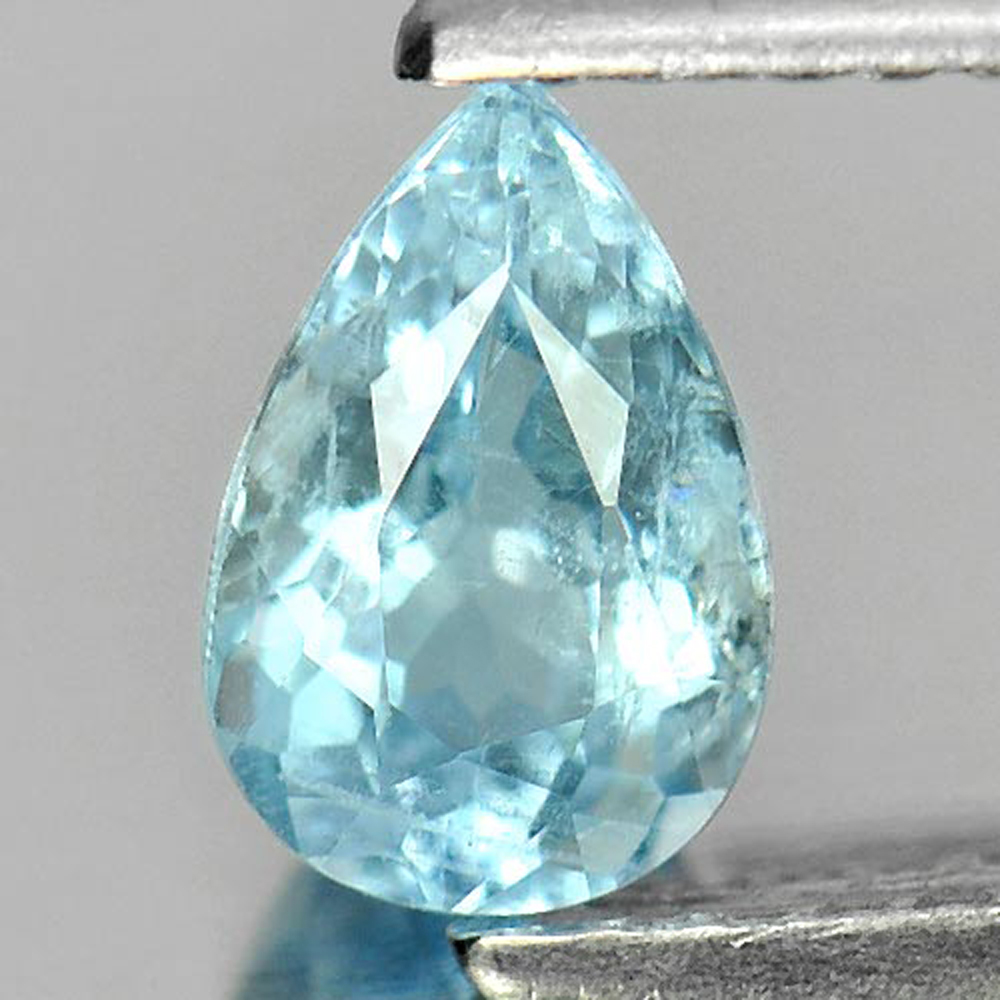 Unheated 0.69 Ct. Pear Natural Gem Light Blue Aquamarine Brazil