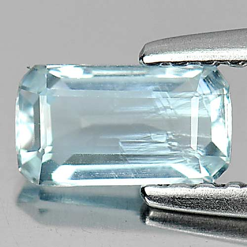 0.52 Ct. Octagon Natural Gemstone Light Blue Aquamarine From Brazil