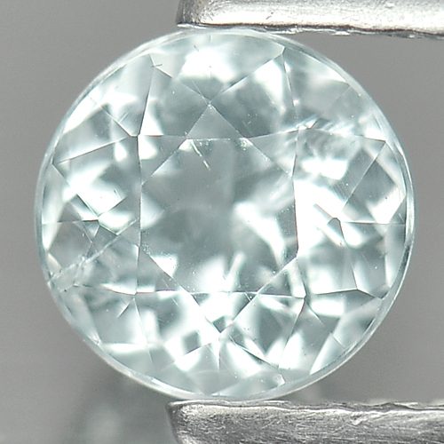 0.48 Ct. Blazing Round Natural Gem Light Blue Aquamarine Unheated Brazil