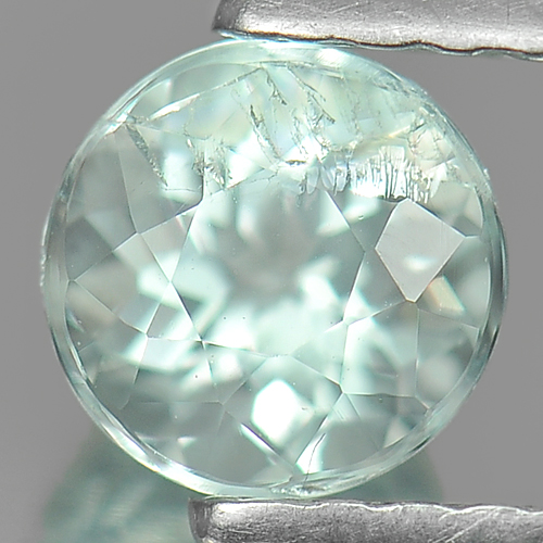 0.57 Ct. Dazzling Round Natural Gem Light Blue Aquamarine Unheated Brazil